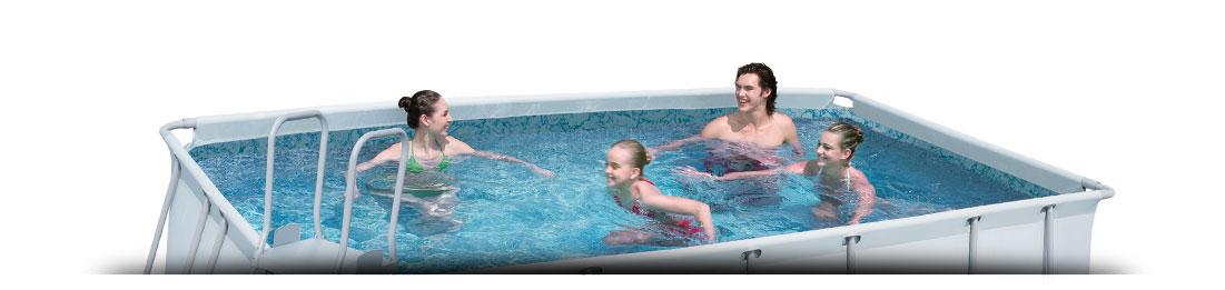 Opbouw zwembaden